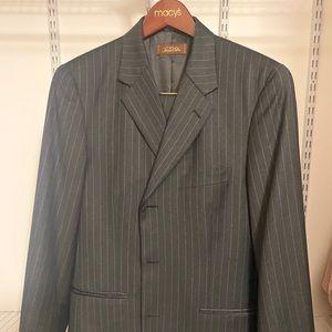 Very elegant, dark gray 2 piece men's suit,
